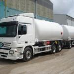 Cisternas de GLP sobre camión